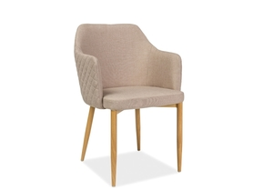 Krzesło Astor beż tkanina/dąb metal signal