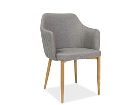 Krzesło Astor szara tkanina/dąb metal signal