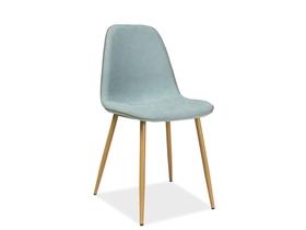 Krzesło Dual mięta + szara tkanina + ekoskóra/metal dąb signal