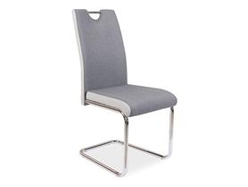 Krzesło H-952 szara tkanina + jasno szara ekoskóra/metal signal