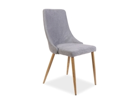 Krzesło Nobel szara tkanina/dąb metal signal