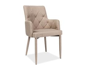 Krzesło ricardo beżowe tkanina/metal signal