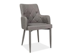 Krzesło Ricardo szara tkanina/metal signal