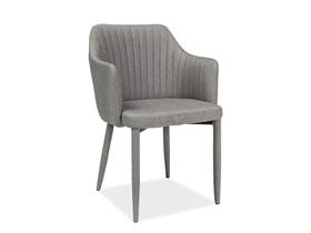 Krzesło welton szare tkanina/metal signal