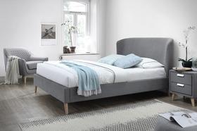 Łóżko sypialniane alexis szara tkanina 160x200 signal.