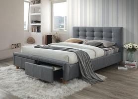 Łóżko sypialniane ascot szara tkanina 160x200 signal