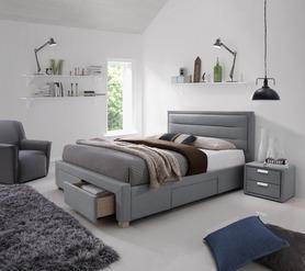 Łóżko sypialniane Ines szara tkanina 160x200 signal