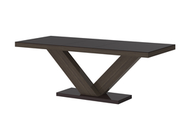 Rozkładany stół victoria brąz-dąb faro 160(208÷256)x89 mdf hubertus