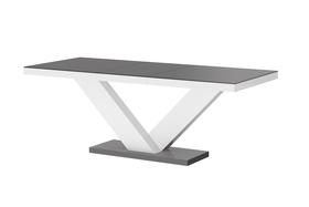 Rozkładany stół victoria szaro-biały 160(208÷256)x89 mdf hubertus