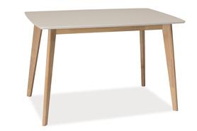 Stół Combo 120x75 biały/dąb bielony mdf/drewno Signal