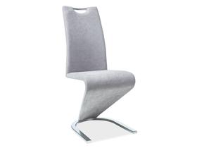 Krzesło h-090 szare/chrom tkanina signal