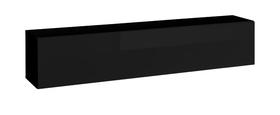 Półka/regał wiszący otwierany poziomy blox sw24 czarny