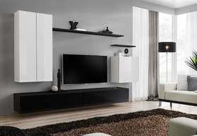 Meblościanka switch 2 biało-czarny mat/połysk
