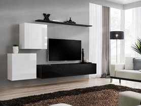 Meblościanka switch 5 biało-czarny mat/połysk