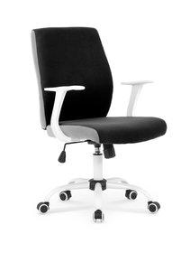 Fotel obrotowy combo czarno-popielaty tkanina halmar
