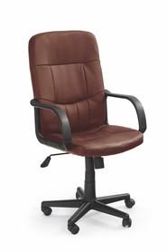 Fotel obrotowy Denzel ciemny brąz eco skóra Halmar