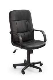 Fotel obrotowy Denzel czarna eco skóra Halmar