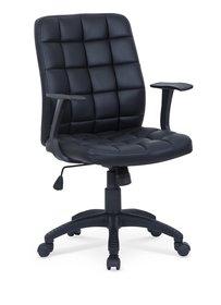 Fotel obrotowy fargo czarny ekoskóra halmar