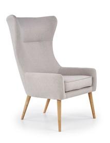 Fotel wypoczynkowy favaro 2 jasny popiel tkanina/drewno halmar