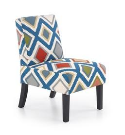 Fotel wypoczynkowy fido wielobarwny tkanina/drewno halmar