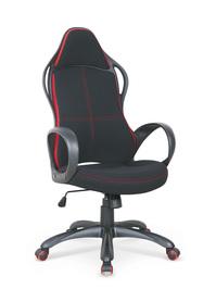 Fotel obrotowy Helix 2 czarny/czerwony tkanina Halmar