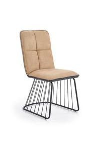 Krzesło k-269 jasny brąz/czerń tkanina/eco skóra/stal malowana proszkowo halmar