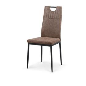 Krzesło k-275 brąz miami eco skóra/stal malowana proszkowo halmar