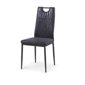Krzesło k-275 czerń miami eco skóra/stal malowana proszkowo halmar