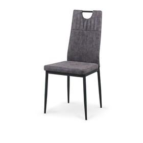 Krzesło k-275 popiel miami eco skóra/stal malowana proszkowo halmar