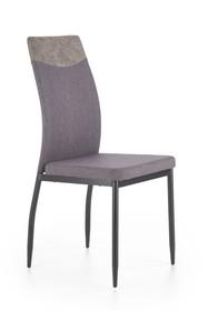 Krzesło K-276 ciemny popiel MIAMI tkanina/eco skóra/stal Halmar