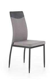 Krzesło K-276 jasny popiel MIAMI tkanina/eco skóra/stal Halmar