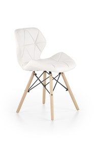 Krzesło K-281 biały eco skóra/drewno lite Halmar