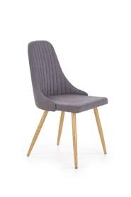 Krzesło k-285 ciemny popiel tkanina/stal malowana halmar