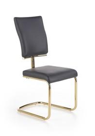 Krzesło k-296 czerń/złoto eco skóra/stal chromowana halmar