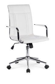 Fotel obrotowy Porto 2 biały eco skóra Halmar