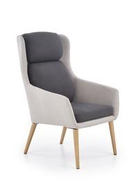 Fotel wypoczynkowy purio jasny popiel/ciemny popiel tkanina/drewno halmar