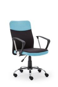 Fotel obrotowy topic czarno-niebieska tkanina halmar
