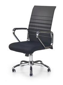 Fotel obrotowy volt czarno-popielata tkanina/siatka halmar
