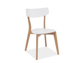 Krzesło mosso białe/dąb mdf/drewno signal