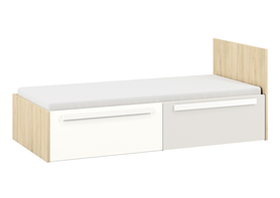 Łóżko drop 17 buk fjord + biały / szary jasny ml meble