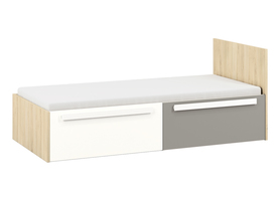 Łóżko drop 17 buk fjord + biały / szara platyna ml meble