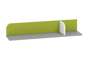 Półka iq 15 szara platyna+biały / zielony ml meble