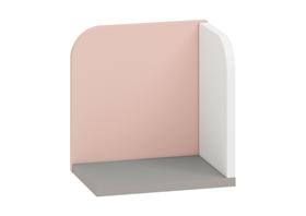 Półka iq 16 szara platyna+biały / pudrowy ml meble