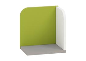 Półka iq 16 szara platyna+biały / zielony ml meble