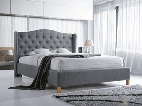 Łóżko sypialniane aspen szara tkanina 140x200 signal