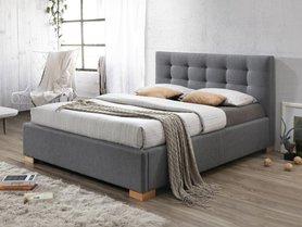 Łóżko sypialniane copenhagen szara tkanina 160x200 signal