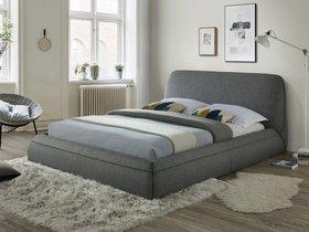 Łóżko sypialniane maranello szara tkanina 160x200 signal