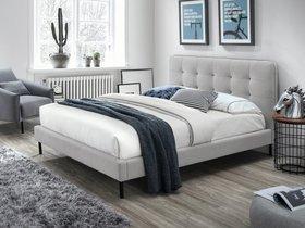 Łóżko sypialniane sally szara tkanina 160x200 signal