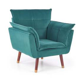 Fotel wypoczynkowy rezzo ciemny zielony/ciemny orzech tkanina/drewno halmar