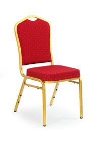 Krzesło K-66 bordo/złoty tkanina/stal Halmar